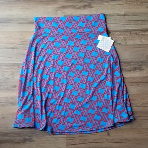 NWT LuLaRoe Azure Midi Skirt